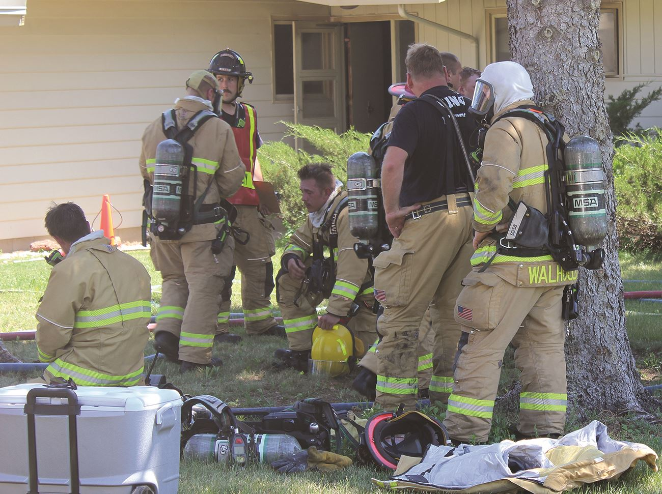 Firefighters recovering in hot weather